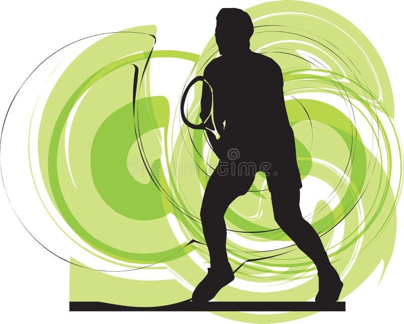 Illustrazione dei giocatori di tennis. royalty illustrazione gratis