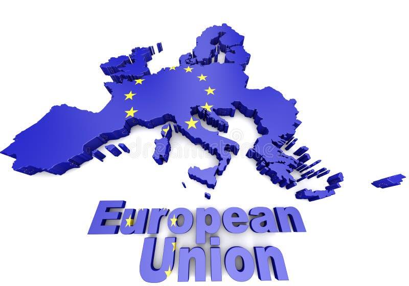 Illustrazione dei paesi europei 3d illustrazione di stock
