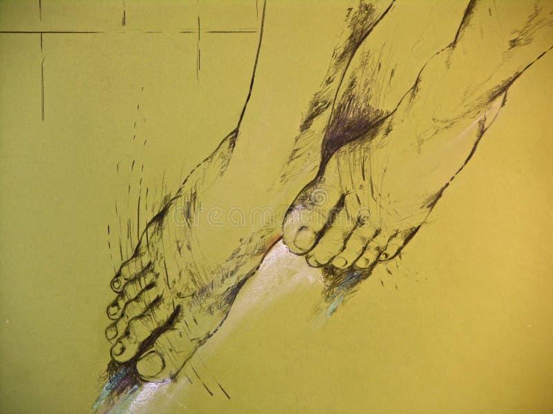 Illustrazione dei piedini della donna royalty illustrazione gratis