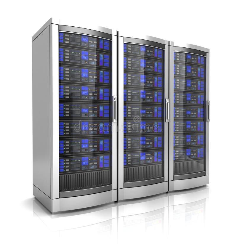 Illustrazione dei server 3d della stazione di lavoro della rete royalty illustrazione gratis