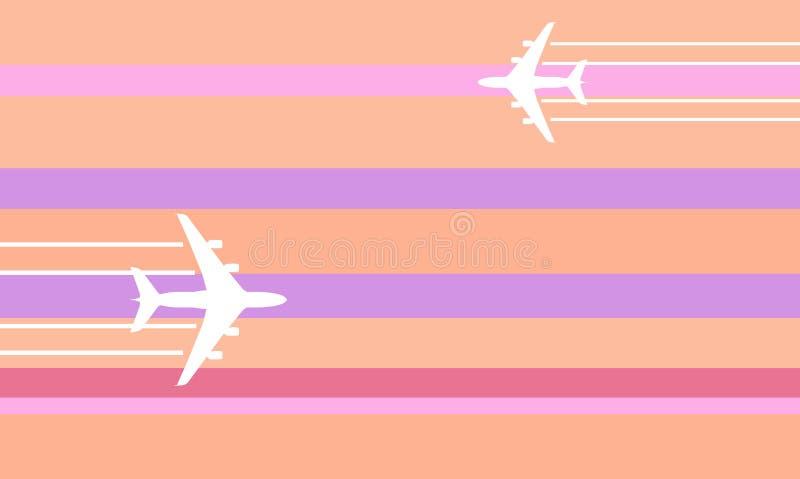 Illustrazione dei velivoli di volo illustrazione di stock