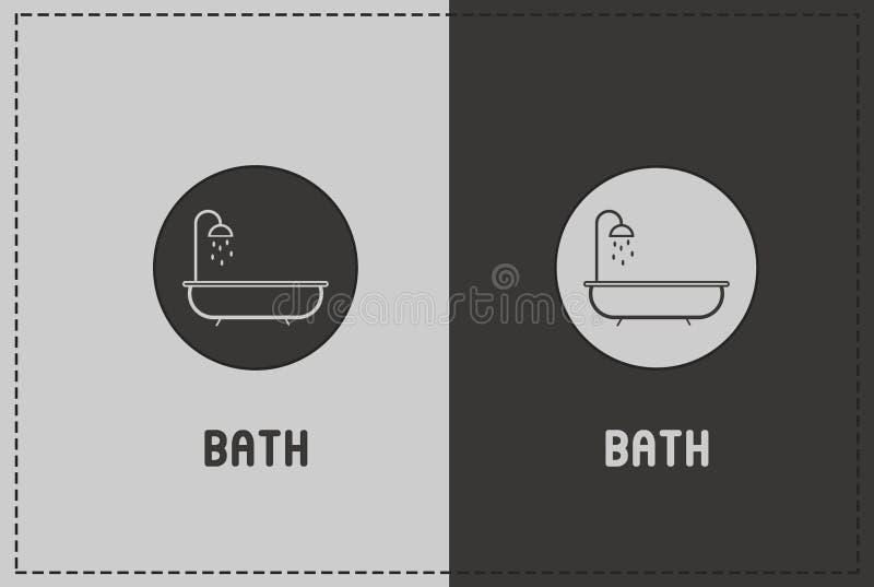 Illustrazione del bagno fotografia stock
