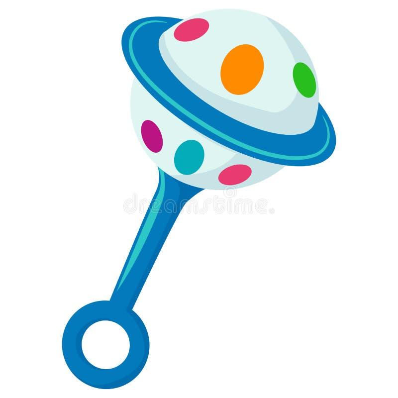 Illustrazione del bambino Toy Rattle illustrazione vettoriale