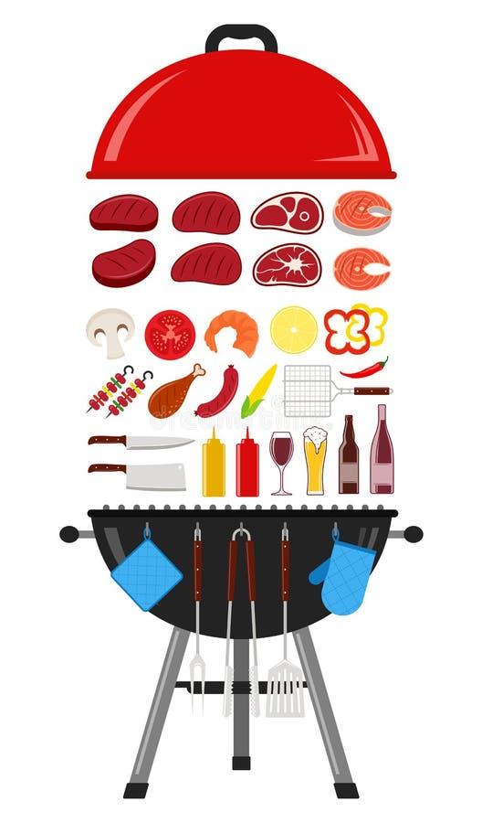 Illustrazione del barbecue di vettore royalty illustrazione gratis