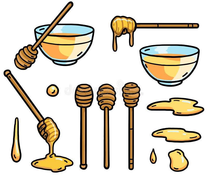 Illustrazione del bastone del miele, scarabocchio, schizzo, disegno, vettore illustrazione vettoriale