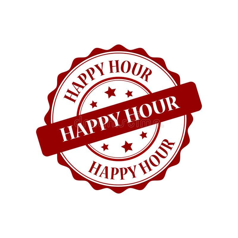 Illustrazione del bollo di happy hour royalty illustrazione gratis