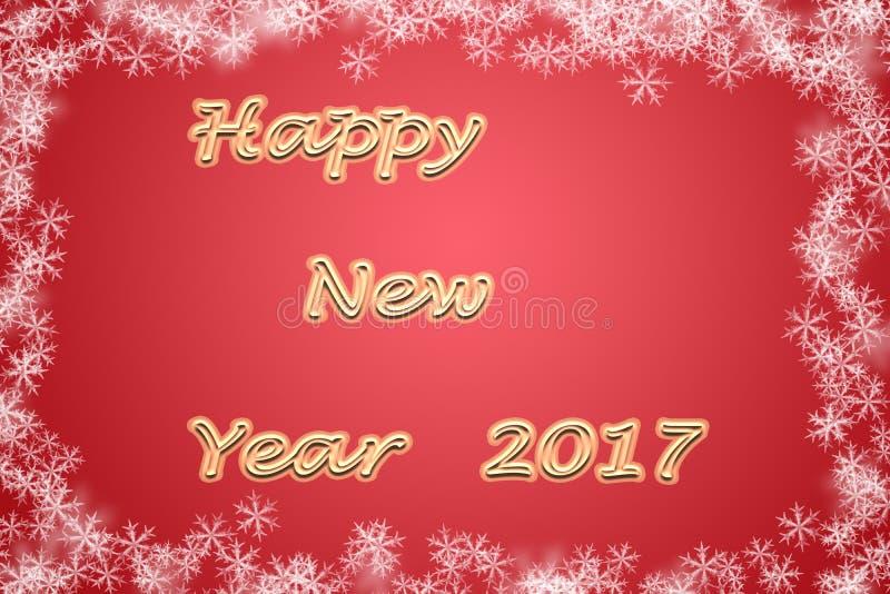 Illustrazione 2017 del buon anno immagini stock libere da diritti