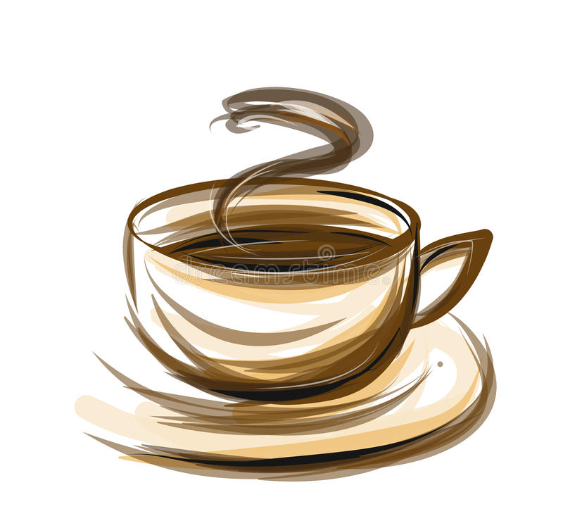 illustrazione del caffè illustrazione di stock