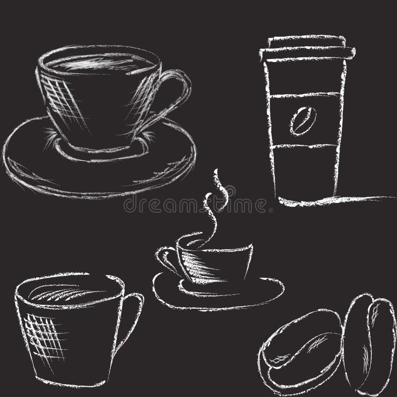 Illustrazione del caffè di vettore immagini stock