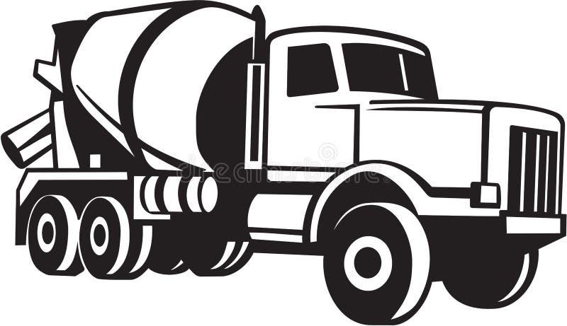 Illustrazione del camion del cemento illustrazione di stock