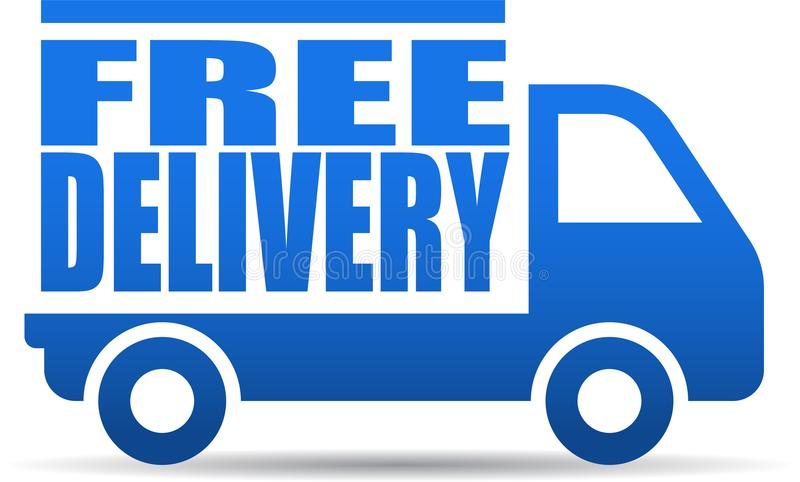 Illustrazione del camion di consegna gratuita illustrazione vettoriale