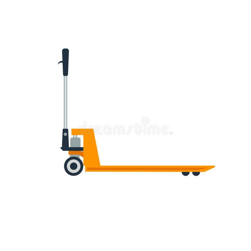 Illustrazione del camion di pallet immagine stock
