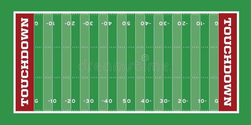 Illustrazione del campo di football americano illustrazione di stock
