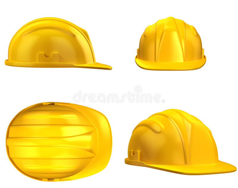 Illustrazione del casco 3d della costruzione illustrazione di stock