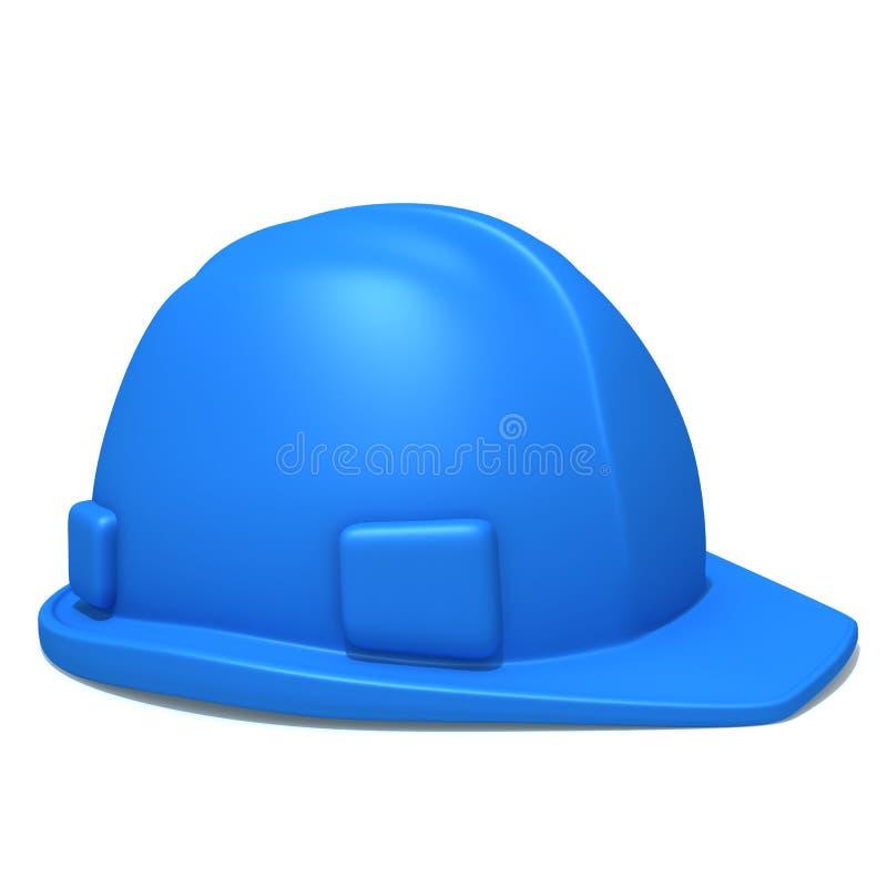 Illustrazione del casco 3d della costruzione illustrazione vettoriale