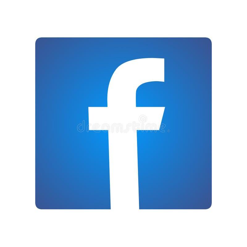 Illustrazione del ceppo di Facebook di vettore dell'icona del libro del fronte royalty illustrazione gratis