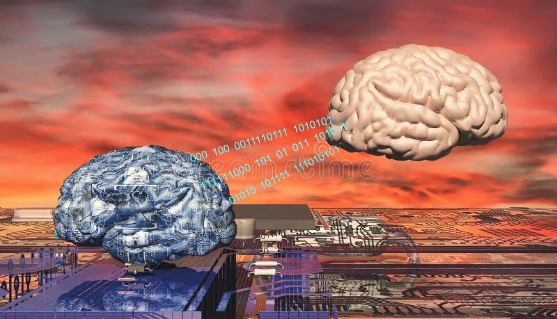 illustrazione del cervello elettronico illustrazione vettoriale