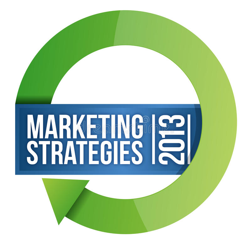 Illustrazione del ciclo di 2013 strategie di marketing illustrazione vettoriale