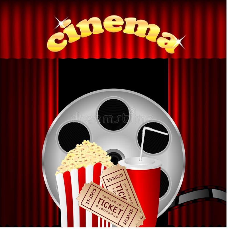 Illustrazione del cinema illustrazione di stock