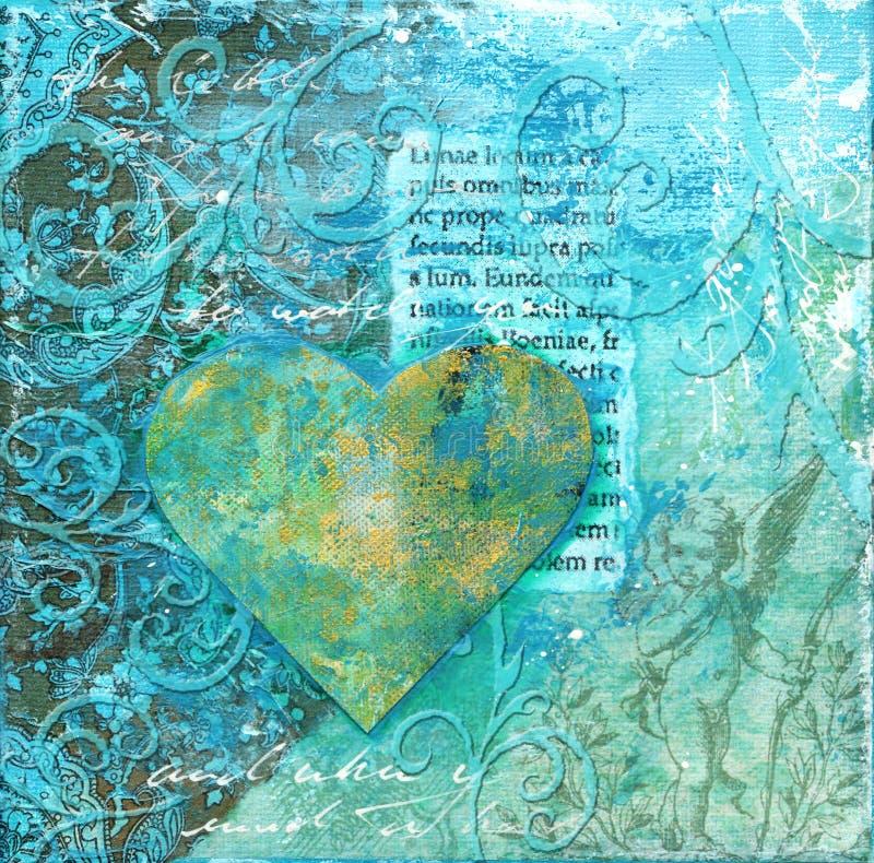 Illustrazione del collage con cuore royalty illustrazione gratis