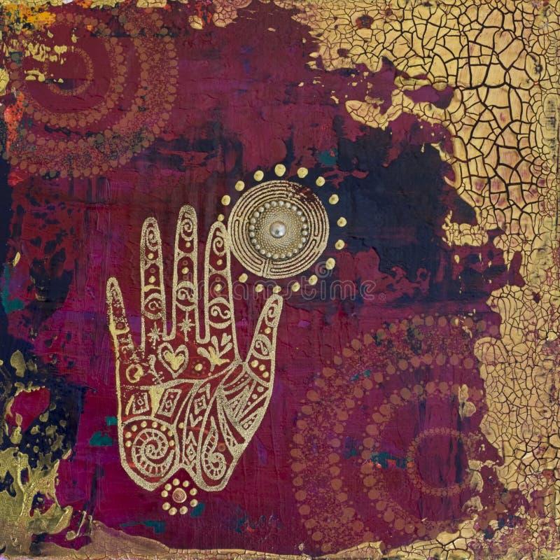 Illustrazione del collage della mano illustrazione di stock