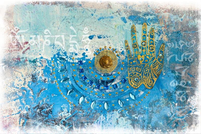 Illustrazione del collage della mano royalty illustrazione gratis