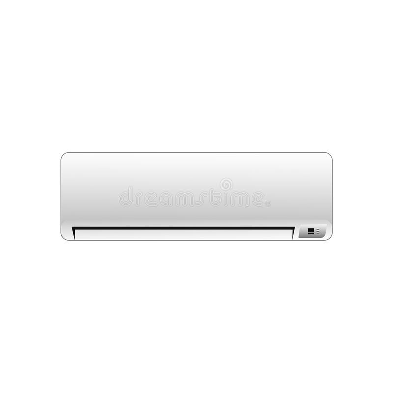 Illustrazione del condizionatore di vettore su un fondo bianco royalty illustrazione gratis
