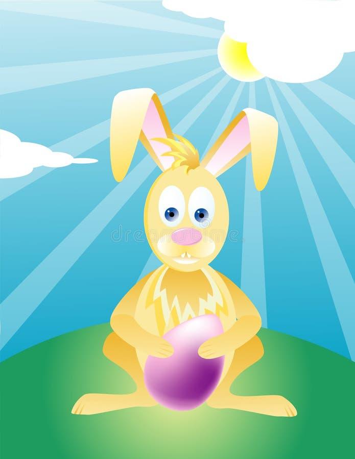 Illustrazione del coniglietto di pasqua immagine stock libera da diritti