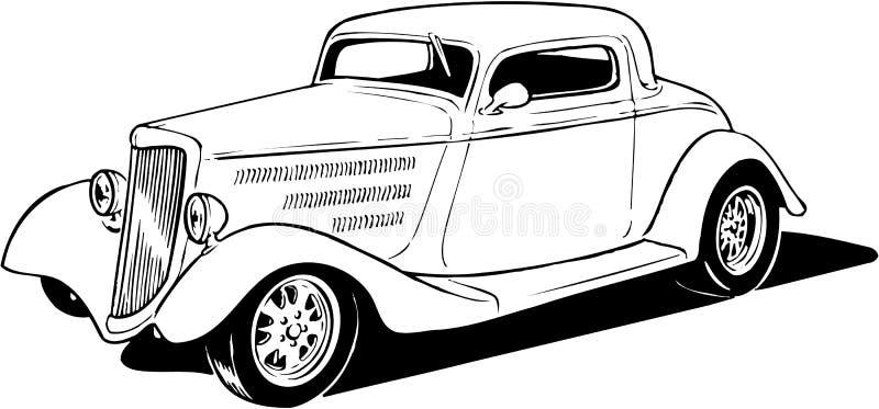 Illustrazione 1934 del coupé royalty illustrazione gratis