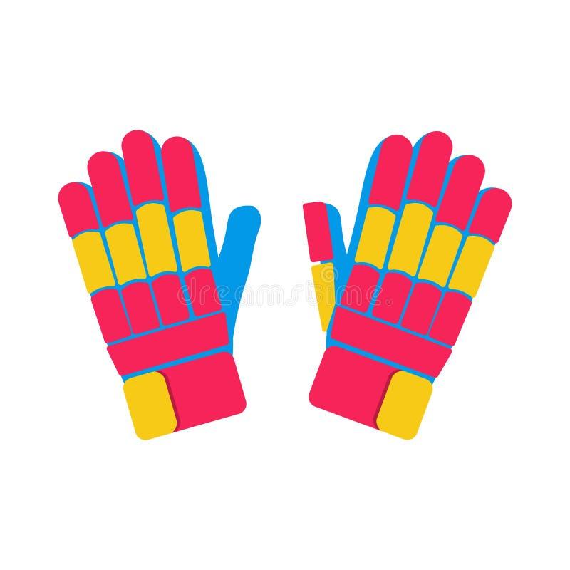 Illustrazione del cricket dei guanti immagini stock libere da diritti