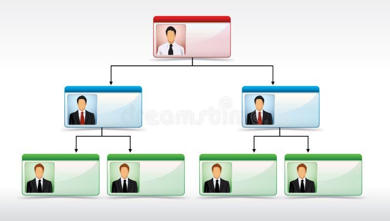 Illustrazione del diagramma di struttura corporativa illustrazione vettoriale