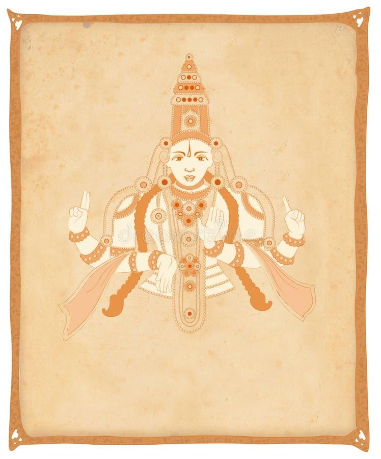 Illustrazione del dio Vishnu illustrazione vettoriale