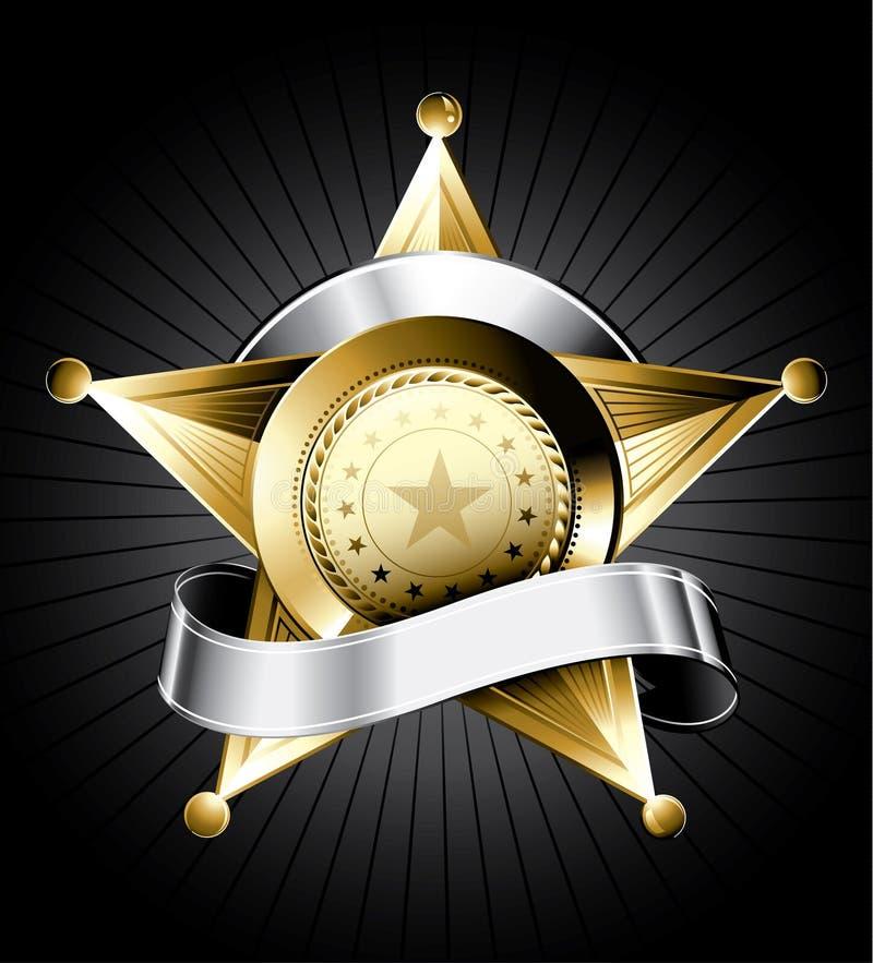 Illustrazione del distintivo dello sceriffo illustrazione vettoriale