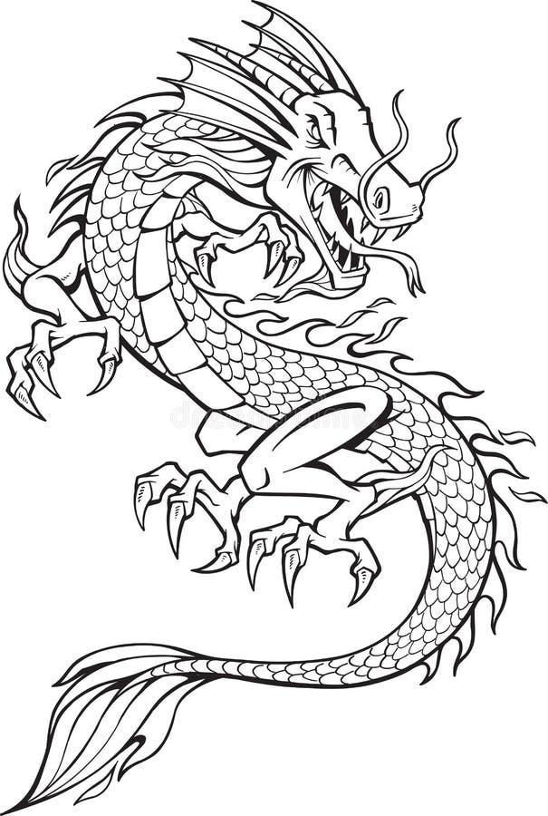 Illustrazione del drago illustrazione di stock