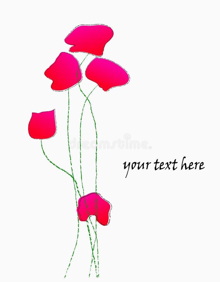 Illustrazione del fiore, papavero illustrazione di stock