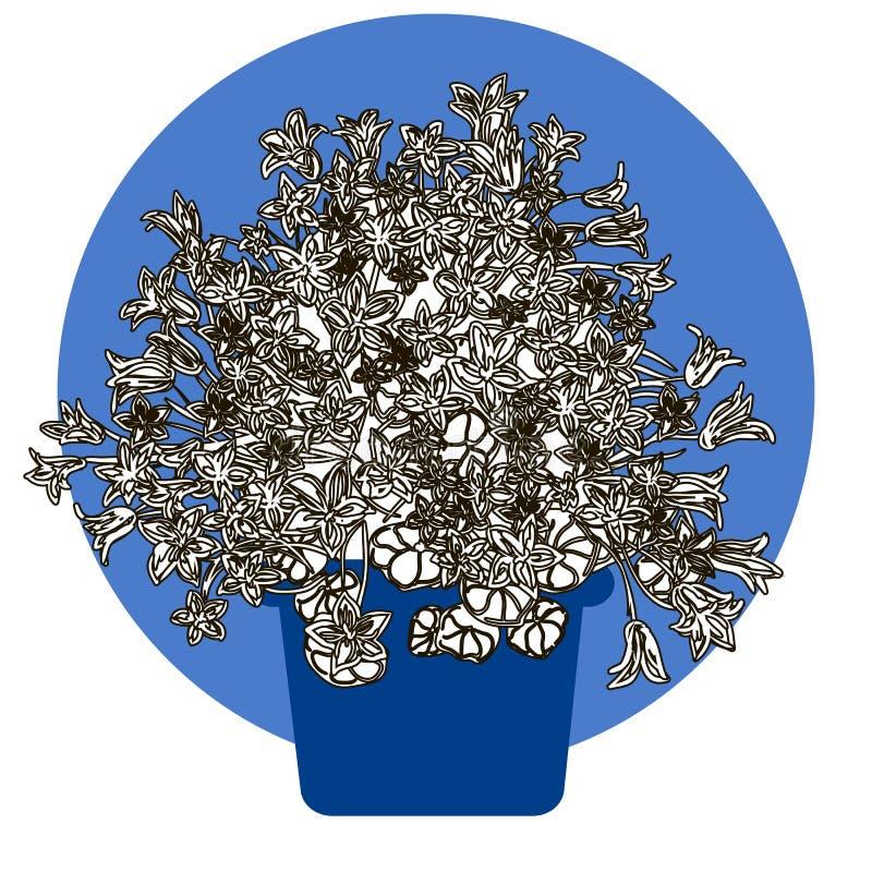 Illustrazione del fiore in vaso illustrazione di stock