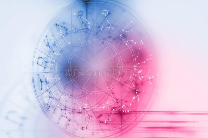 Illustrazione del fondo del segno di alchemia e di astrologia illustrazione di stock
