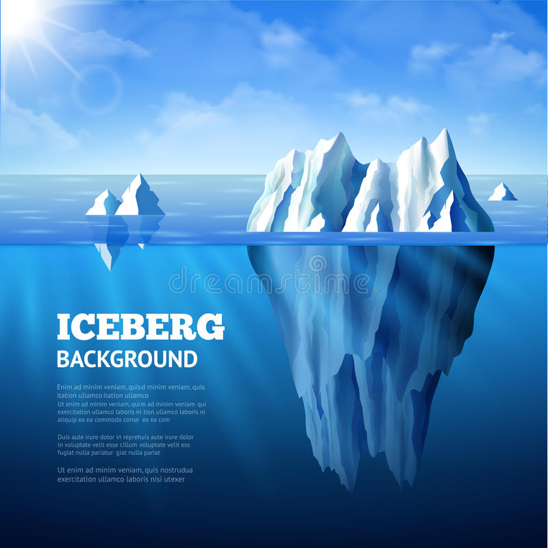 Illustrazione del fondo dell'iceberg royalty illustrazione gratis