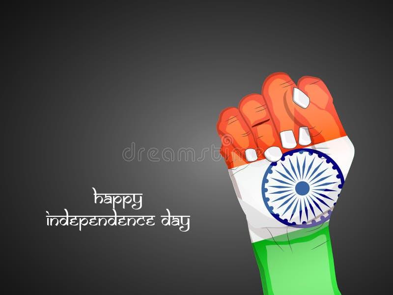 Illustrazione del fondo di festa dell'indipendenza dell'India illustrazione vettoriale