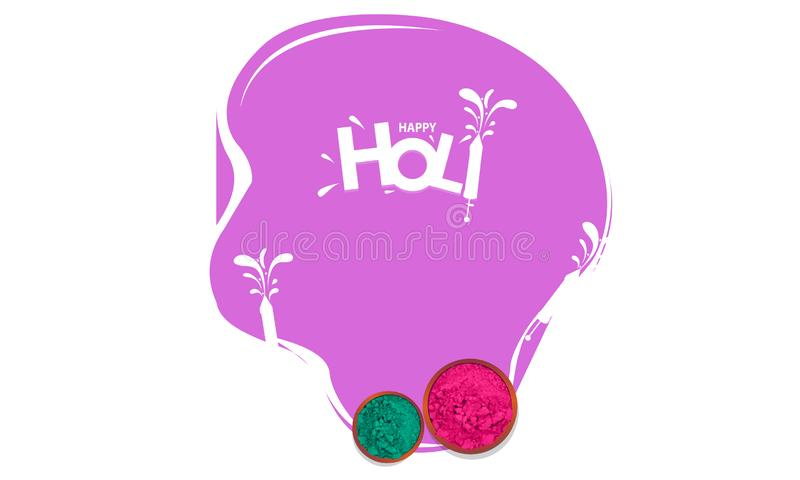 illustrazione del fondo felice variopinto di Holi dell'estratto - vettore royalty illustrazione gratis