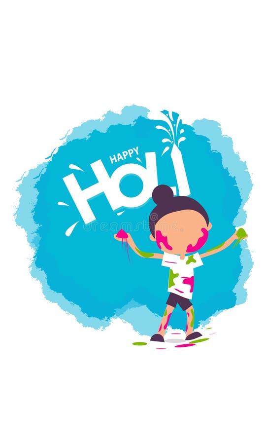 illustrazione del fondo felice variopinto di Holi per il festival dei saluti di celebrazione di colori - vettore illustrazione vettoriale