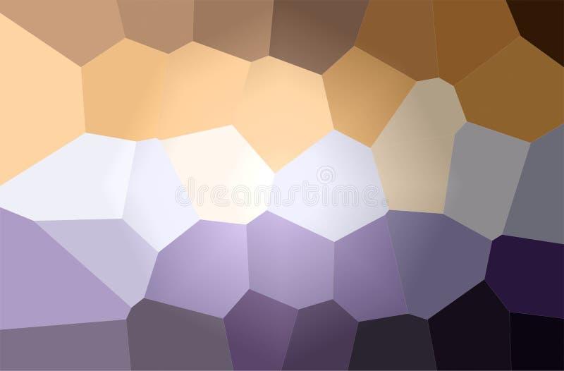 Illustrazione del fondo gigante marrone e porpora della pittura di esagono, digitalmente generata illustrazione vettoriale