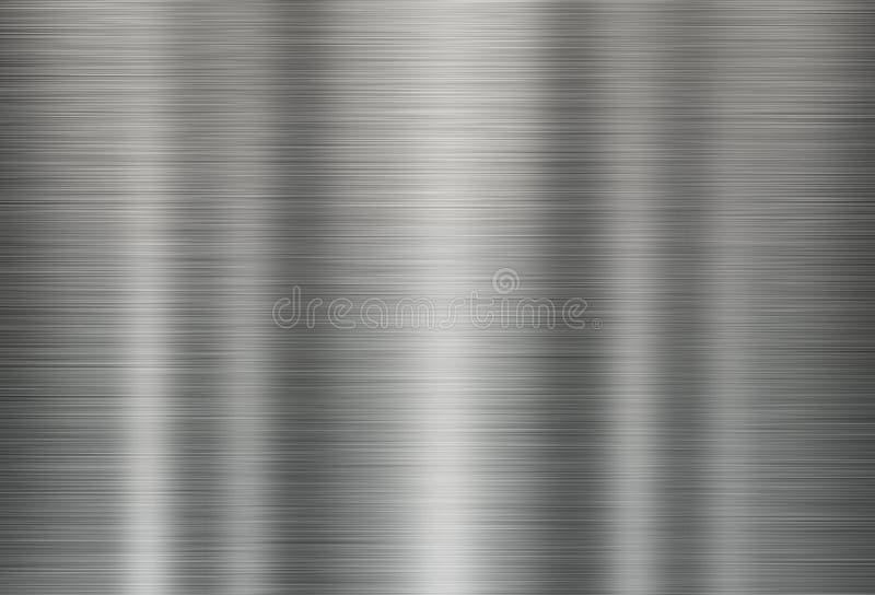 Illustrazione del fondo grigio di struttura del metallo royalty illustrazione gratis
