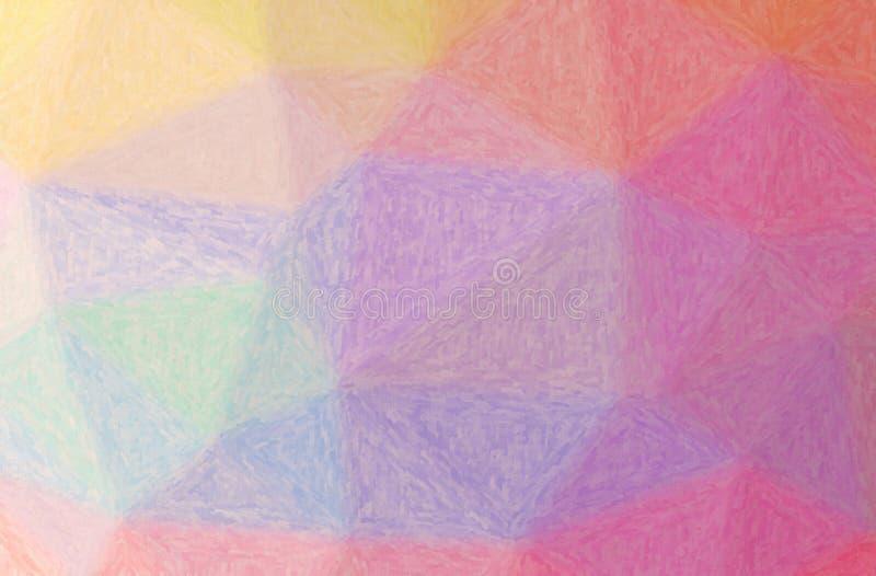Illustrazione del fondo porpora della pittura di Impasto, digitalmente generata illustrazione vettoriale