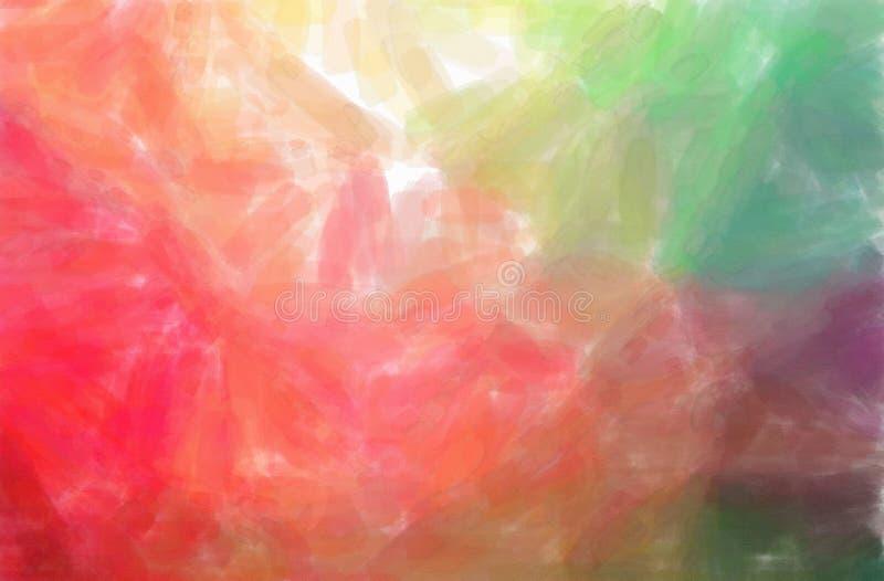 Illustrazione del fondo rosso e verde della pittura dell'acquerello, digitalmente generata illustrazione di stock