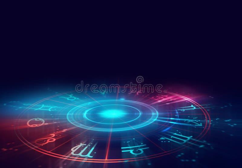 Illustrazione del fondo del segno di alchemia e di astrologia royalty illustrazione gratis