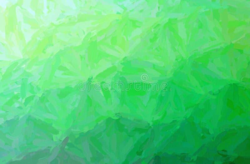 Illustrazione del fondo verde della pittura di Impasto dell'impressionista, digitalmente generata illustrazione vettoriale