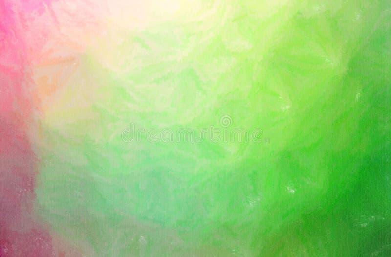 Illustrazione del fondo verde della pittura del pastello di cera, digitalmente generata royalty illustrazione gratis