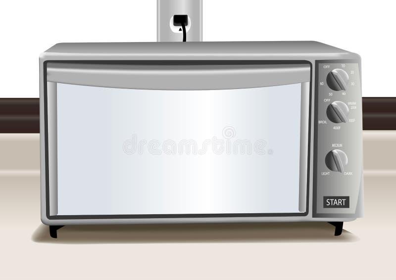 Illustrazione del forno del tostapane illustrazione vettoriale