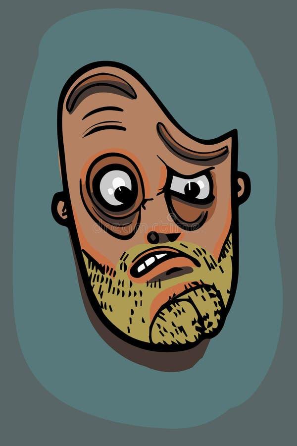 Illustrazione del fronte dell'uomo royalty illustrazione gratis